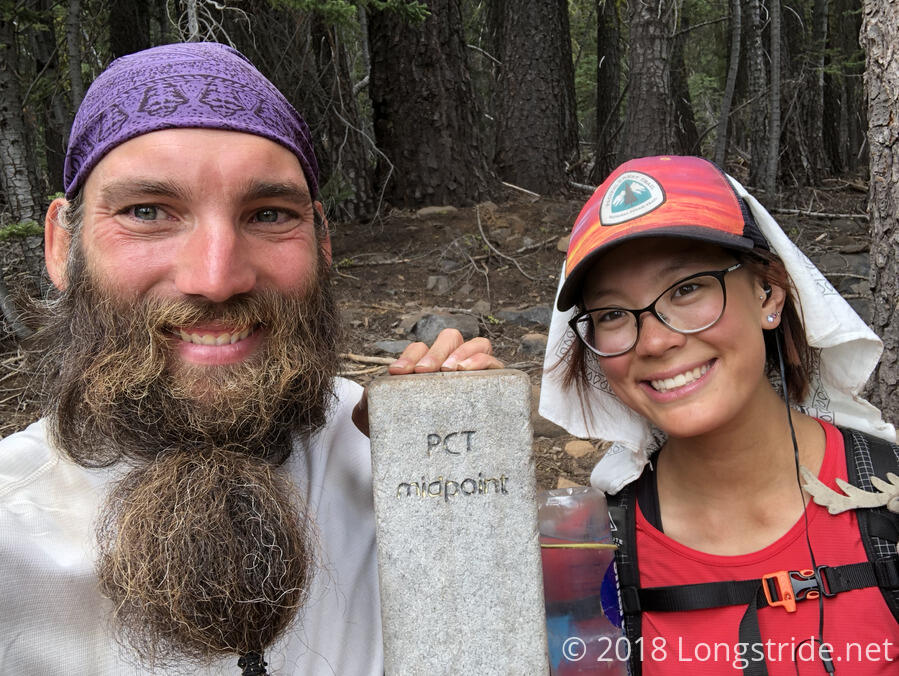 Longstride & Quoi at the PCT Midpoint