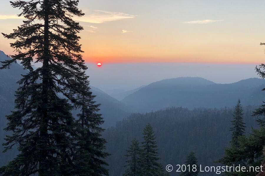 Sunrise Through Smoky Skies