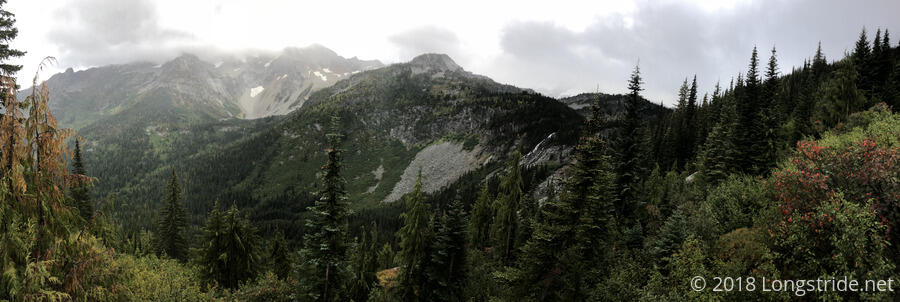 Dumbell Mountain and Railroad Creek