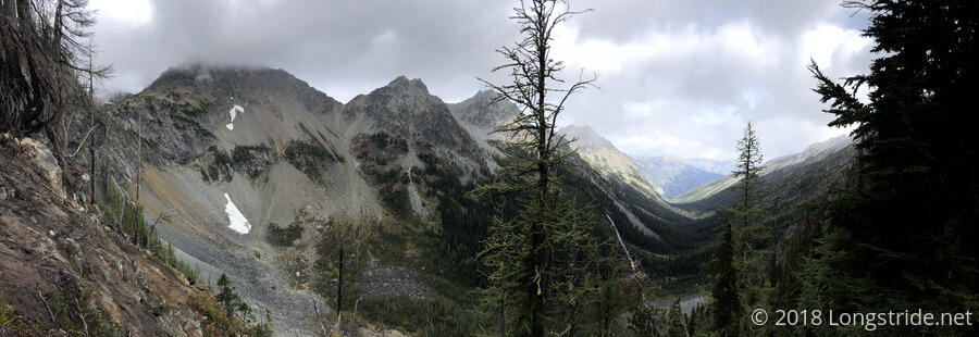 View North from Hilgard Pass