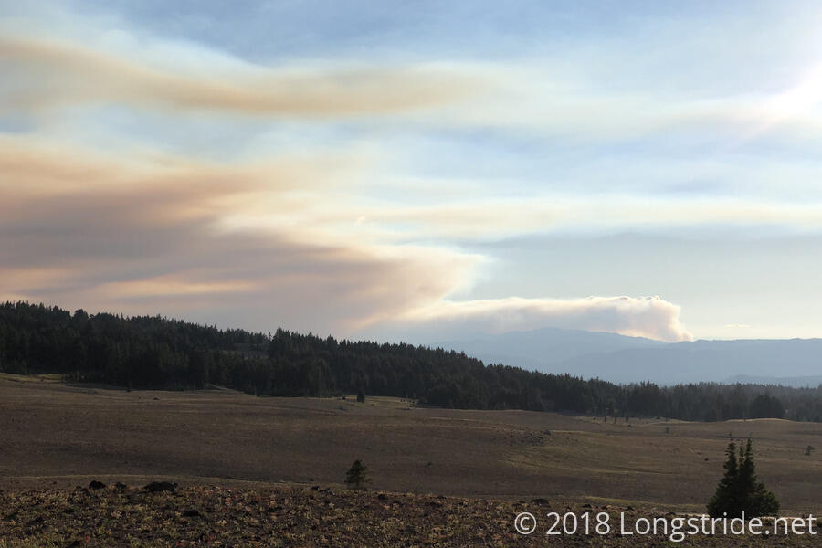 A Fire Near Crater Lake