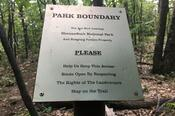 Shenandoah Park Boundary Sign