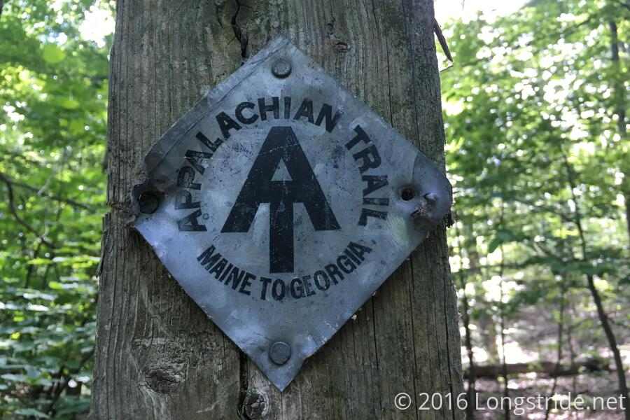 Metal Diamond AT Trail Marker
