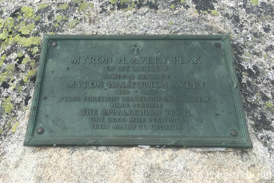 Avery Peak Plaque