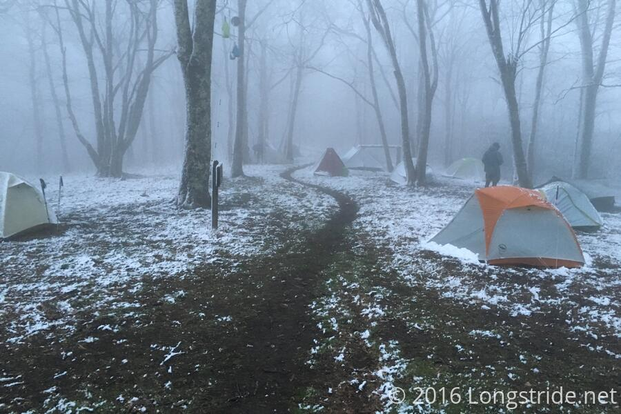 Wintry Tent City